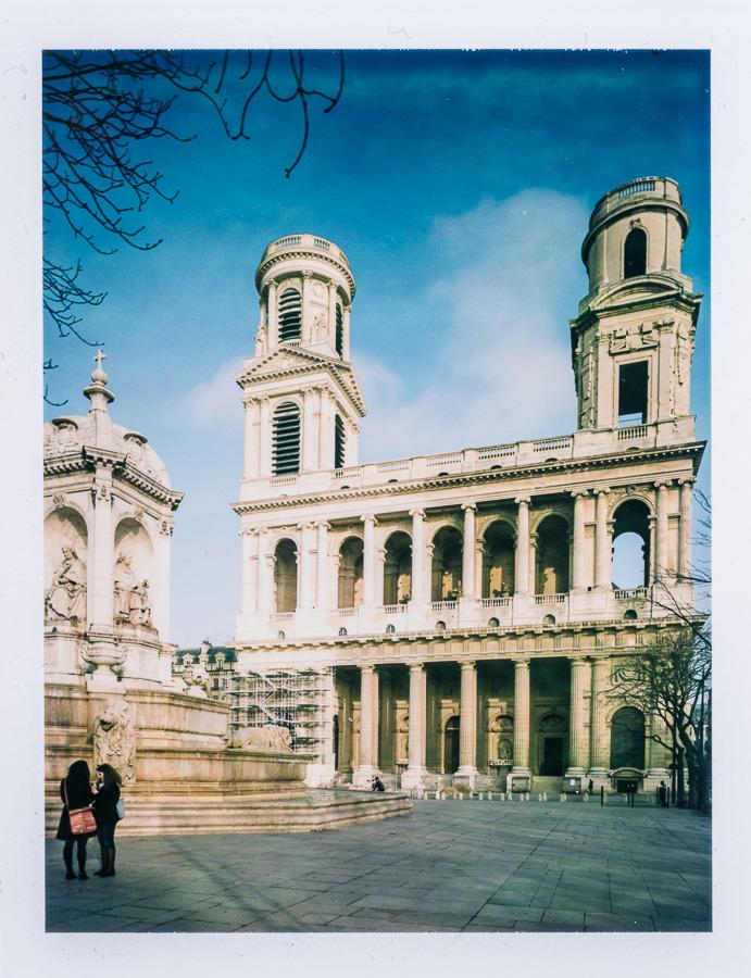 Chambre grand format photographie patrimoine Saint Sulpice Paris