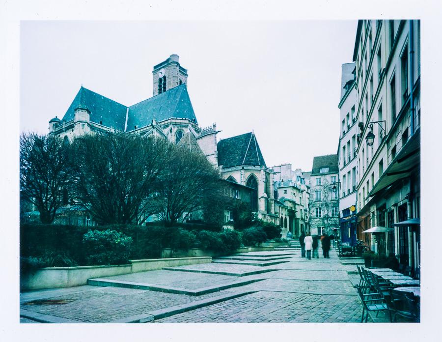 Chambre grand format photographie patrimoine église Marais Paris