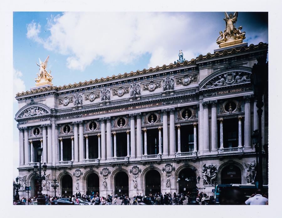 Chambre grand format photographie patrimoine Opéra Garnier Paris