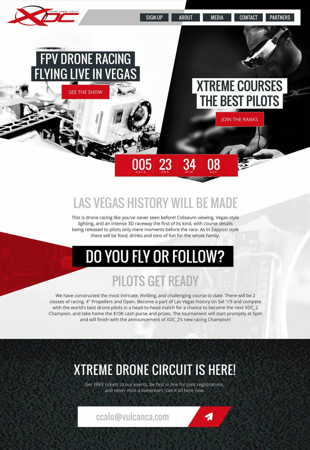 Website Design and Development for Live Event Ticket Sales - http://www.xdcracing.com