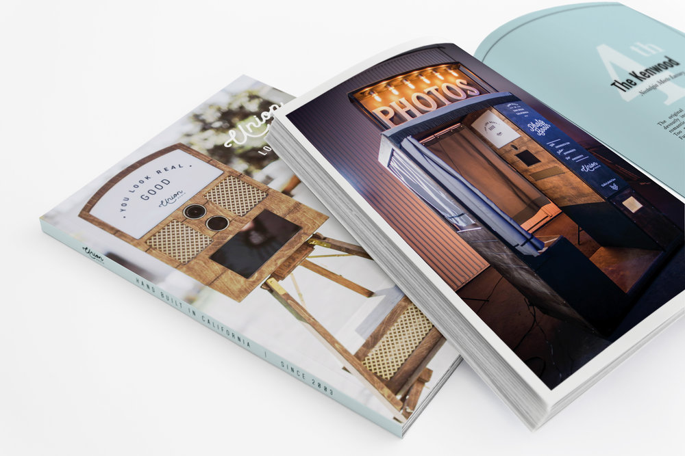 Custom Product 'Lookbook' featuring Union Booth Brand Story