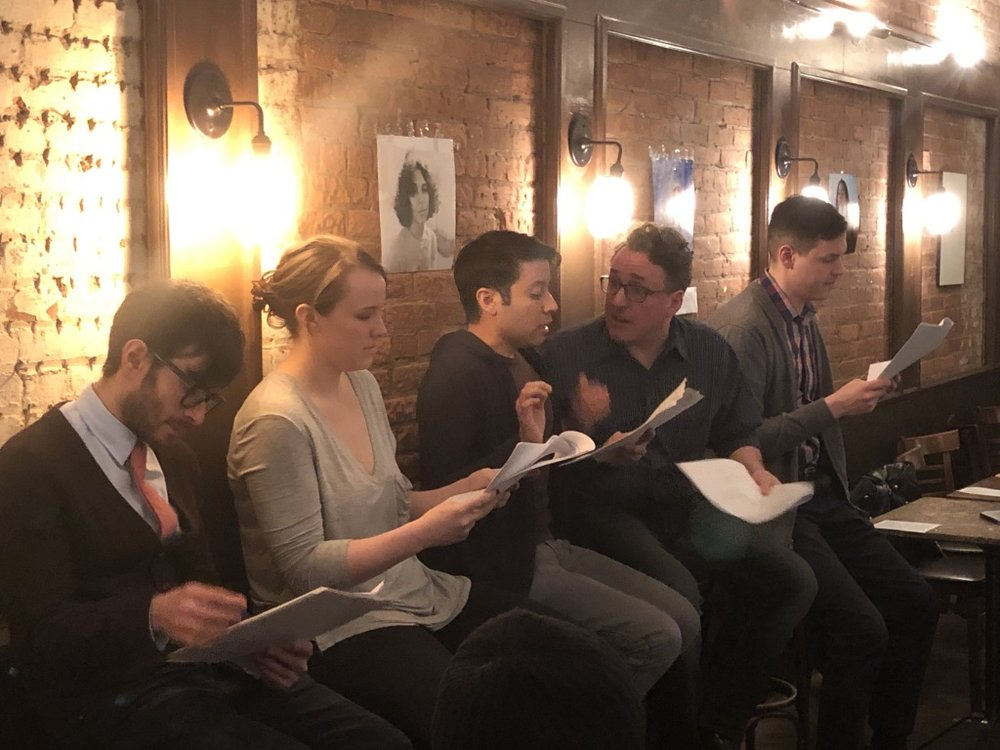 Laundromat by Maura Kelley   With Paul Pakler, Mandy Murphy, Khalid Rivera and Nick Locilento (Topher Payne reading stage directions)