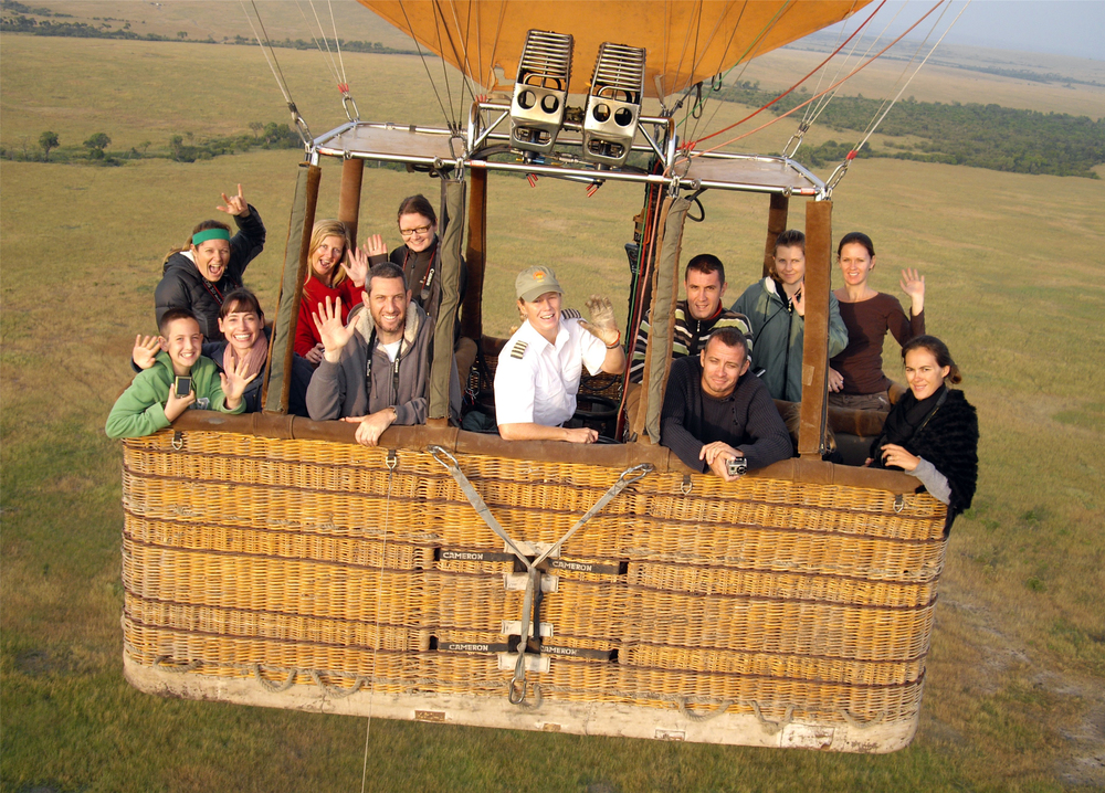 HOT-AIR BALLOON RIDE OVER MASAI MARA