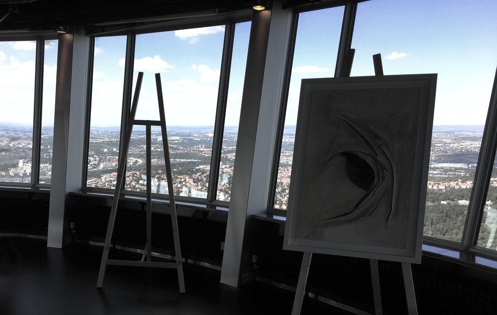 Ausstellung 'Kunscht' 2018 Fernsehturm Stuttgart.