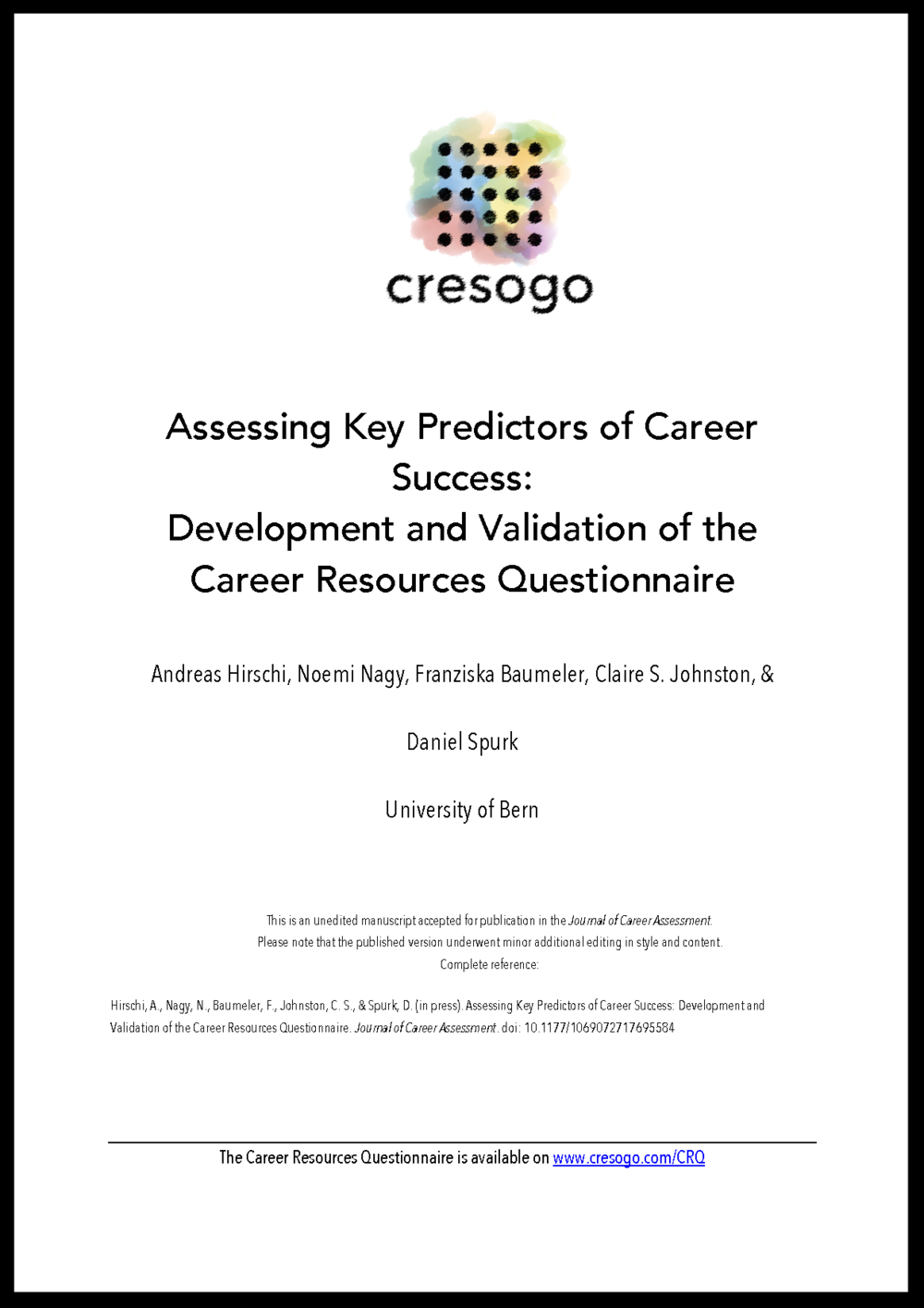 Development and Validation of the Career Resources Questionnaire_cover.png
