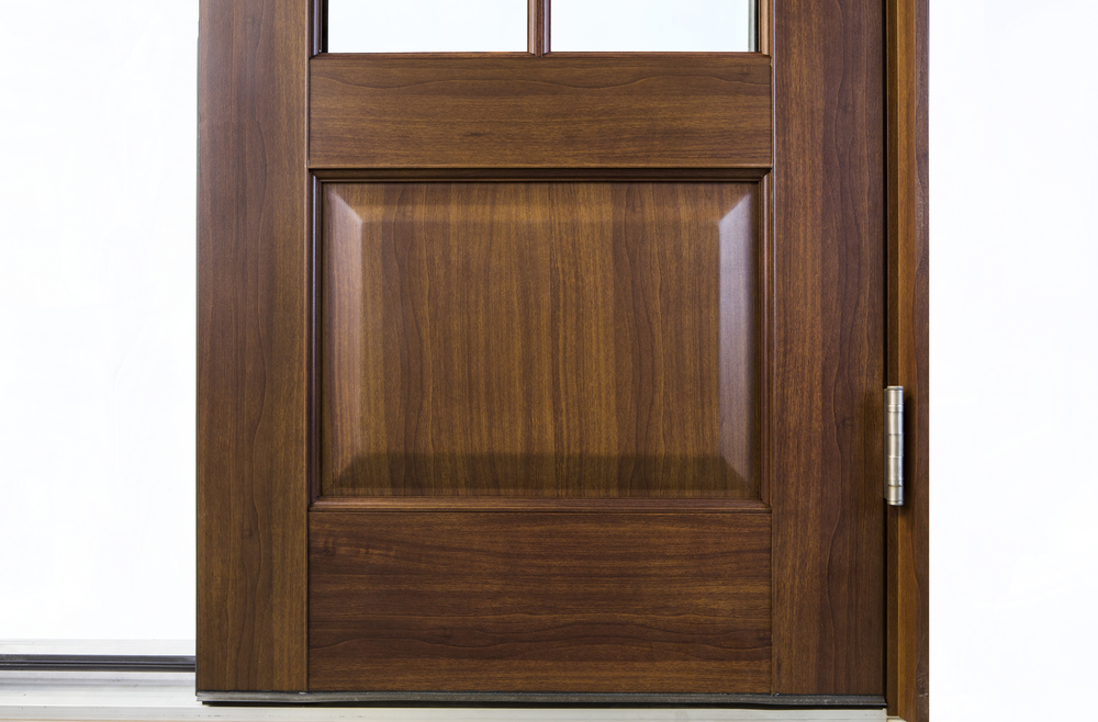 Faux Wood Finish Exterior Ultimate Door