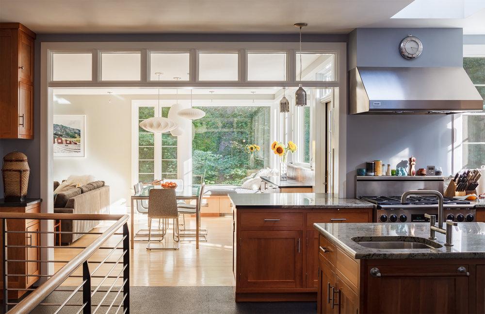 Matthew Delphenich Boston Architectural Photography   Residential Interior  Living Room Kitchen