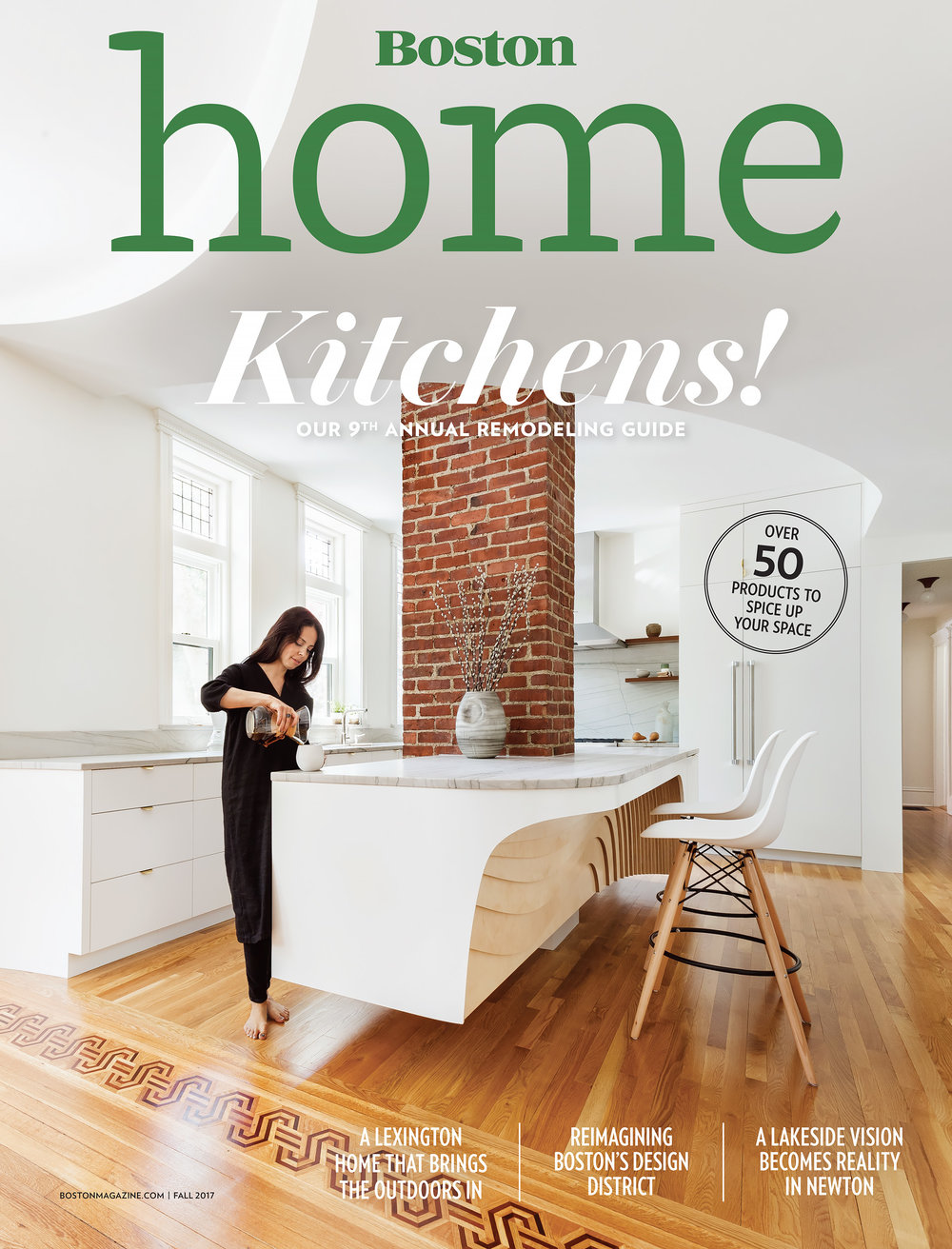 Boston Home - Kitchens 2017 Cover