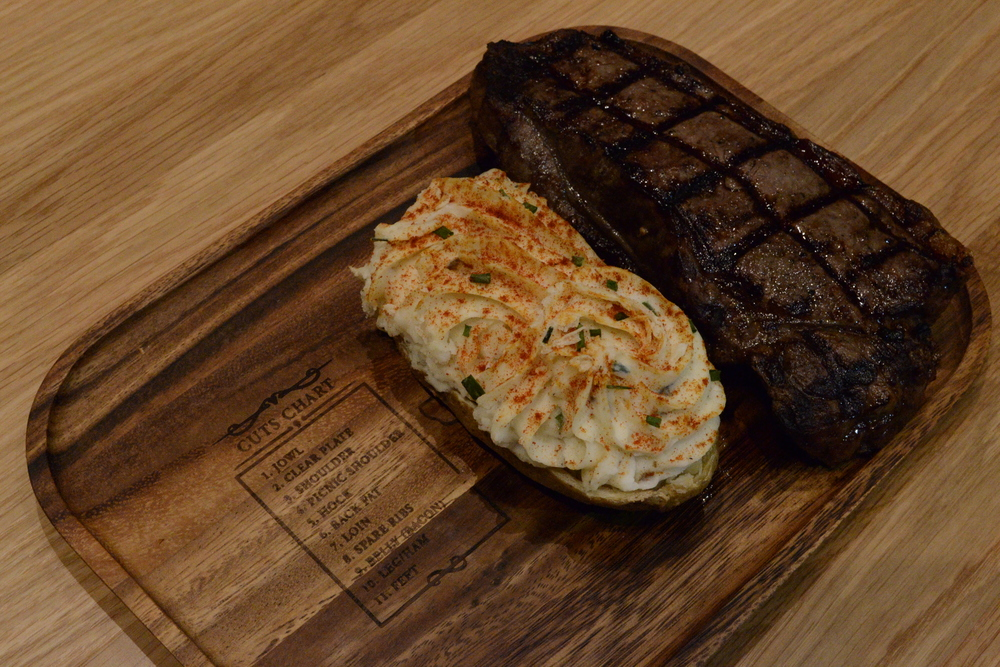 Menu 1: Strip Loin Steak Dinner With our Monte Carlo Potatoes