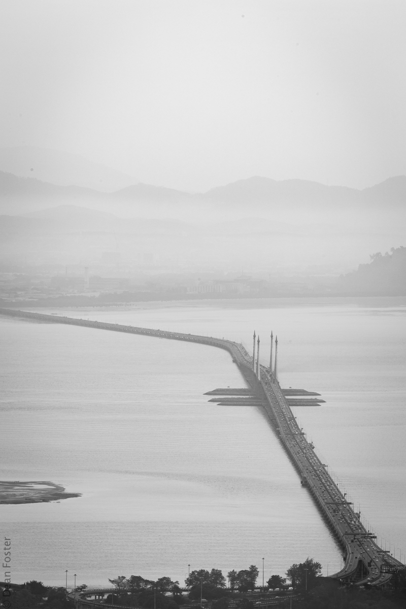 The Penang Bridge - 13.5km bridge connects Penang island to mainland Malaysia