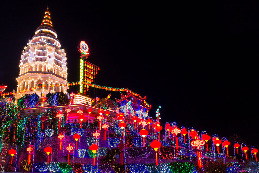 Kek Lok Si all decked out in lights for Chinese New Year celebrations