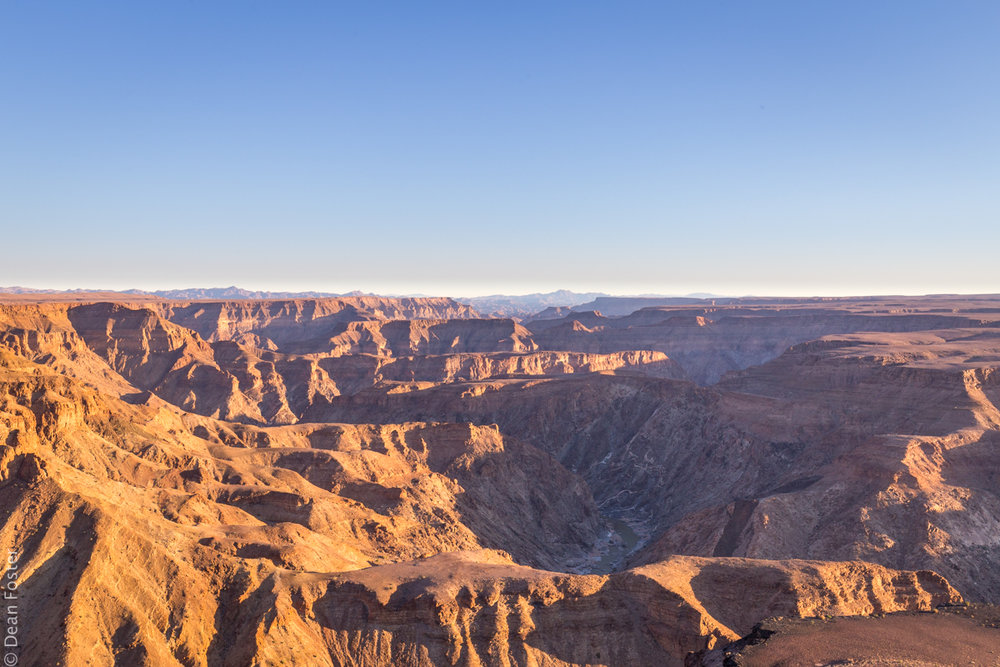 Fish River Canyon at sunset