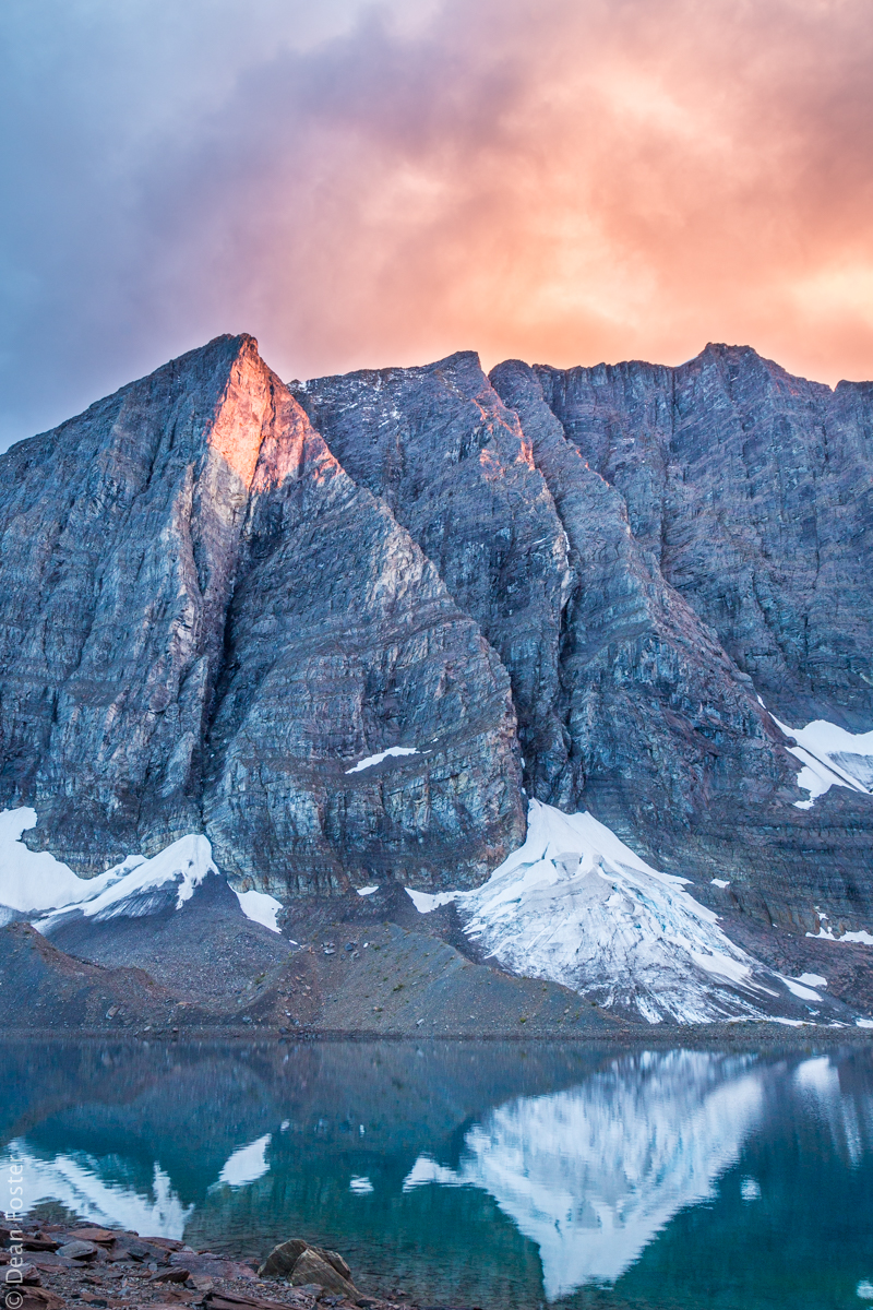 Floe Lake at Sunset