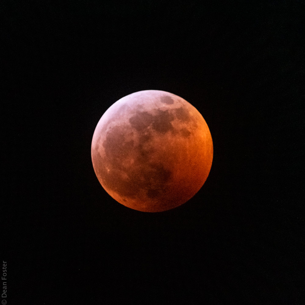 Lunar eclipse at totality