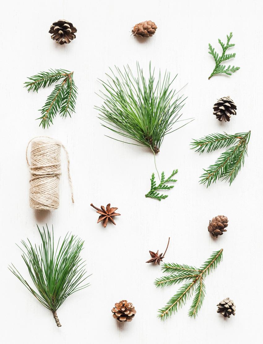 Centrotavola di Natale - OCCORRENTE:- Alzatina in vetro- Candele grandi con colorazione a scelta- Pigne- Castagne- Cannella- Arancia secca- Aghi di Abete- Fil di ferro morbido per creare una