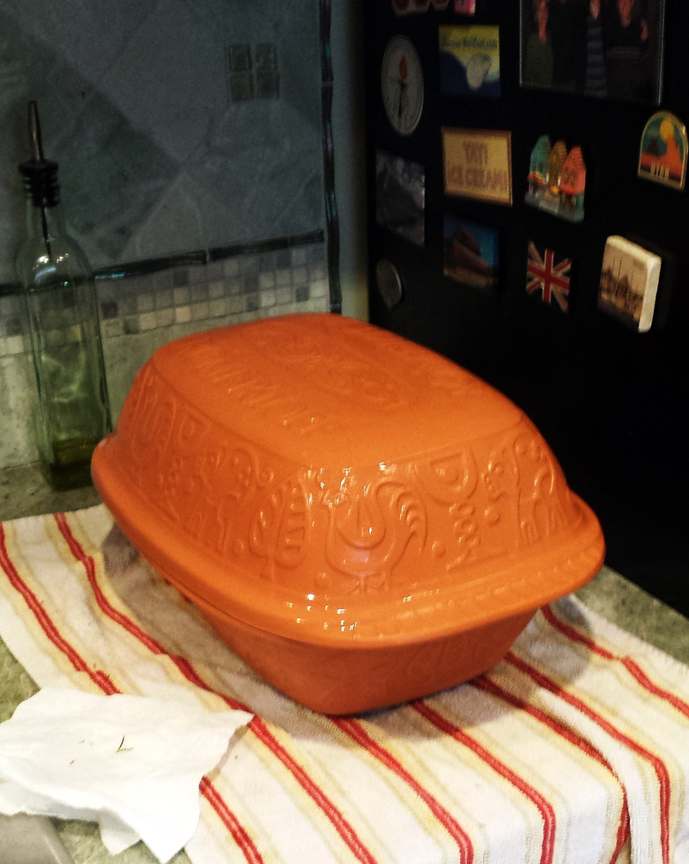 I always practice squatting by moving large clay pots in and out of the oven. Don't you?
