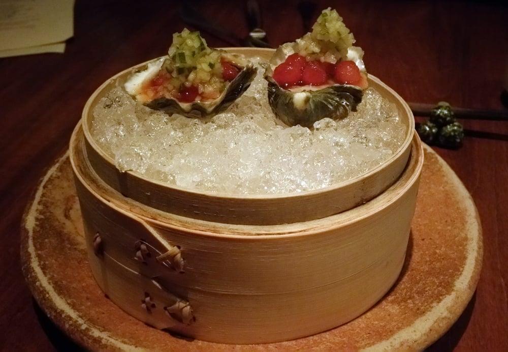 Raw Oysters at O Ya in Boston