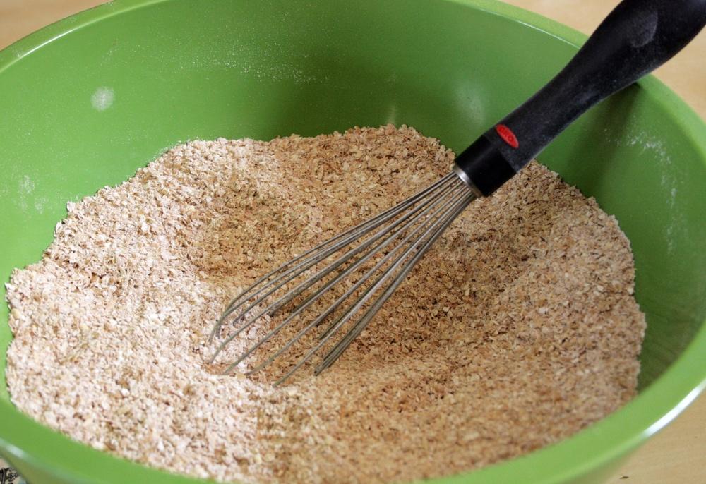 Baking bran muffins - dry ingredients