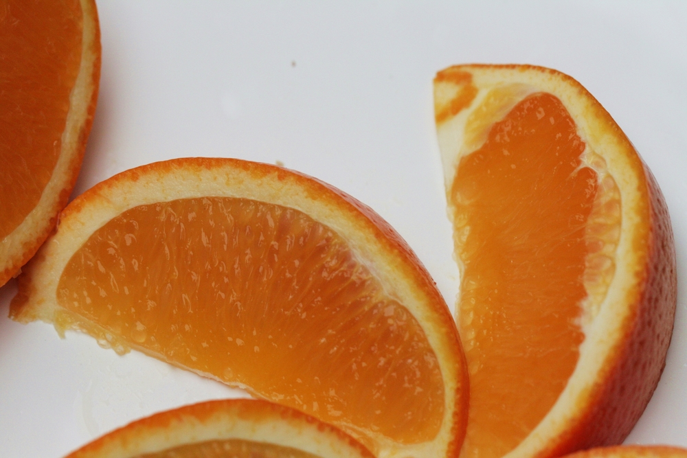 Organic california orange slices
