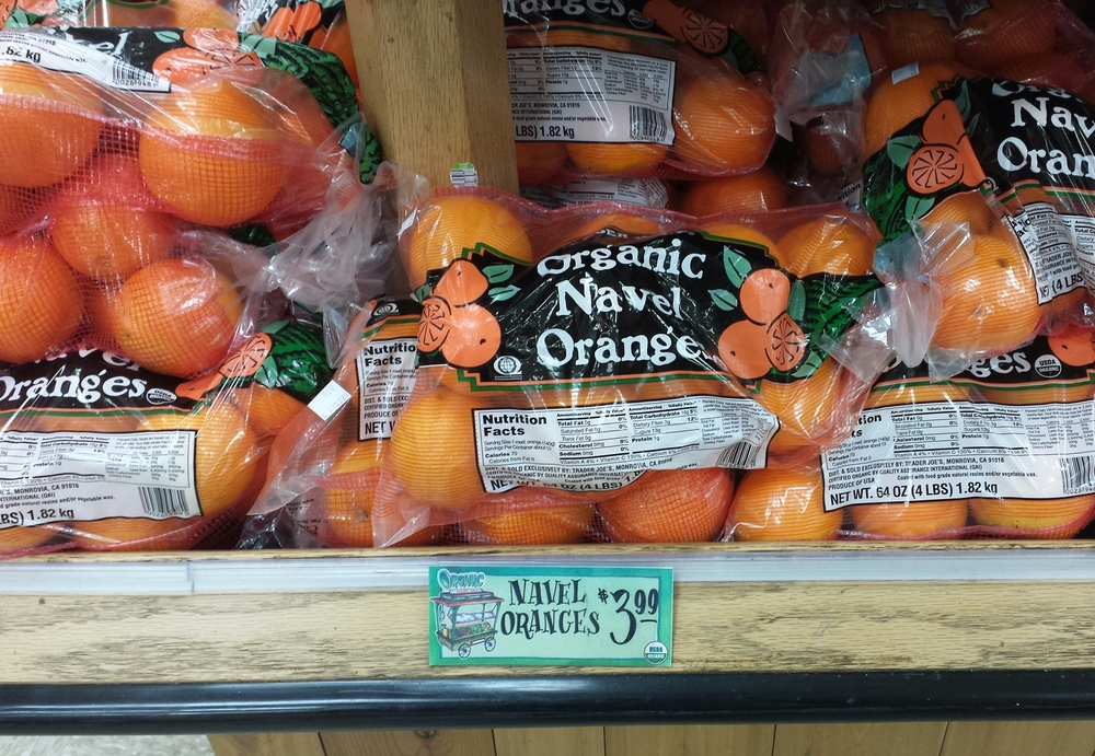 buying organic oranges at trader joe's