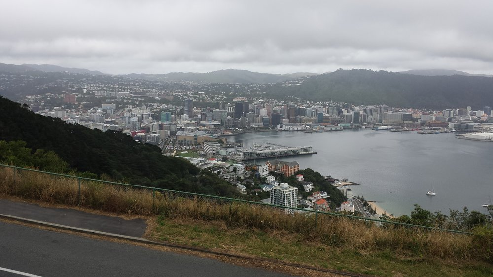 A cloudy view of Wellington.