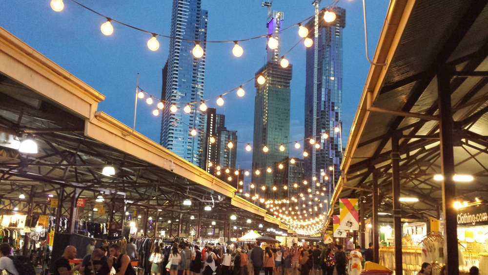 The Queen Victoria Summer Night Market was packed! Dozens of food stalls and live music,