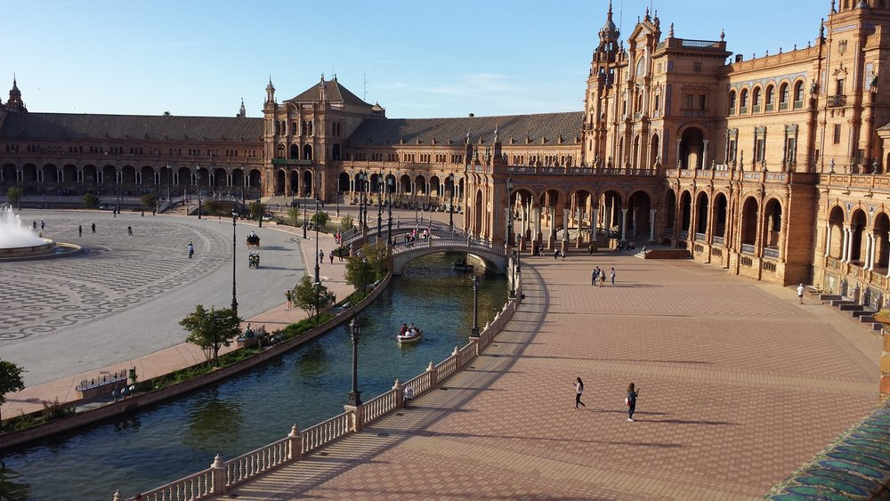 The Plaza de Espana!