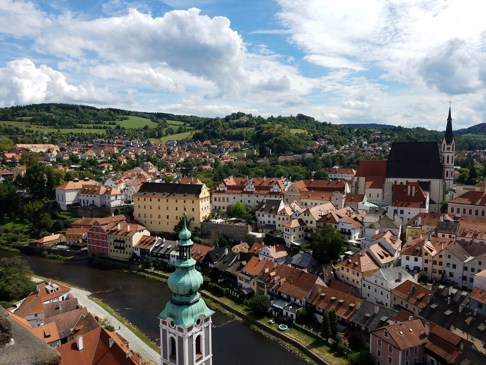 Cesky Krumlov in the Czech Republic.