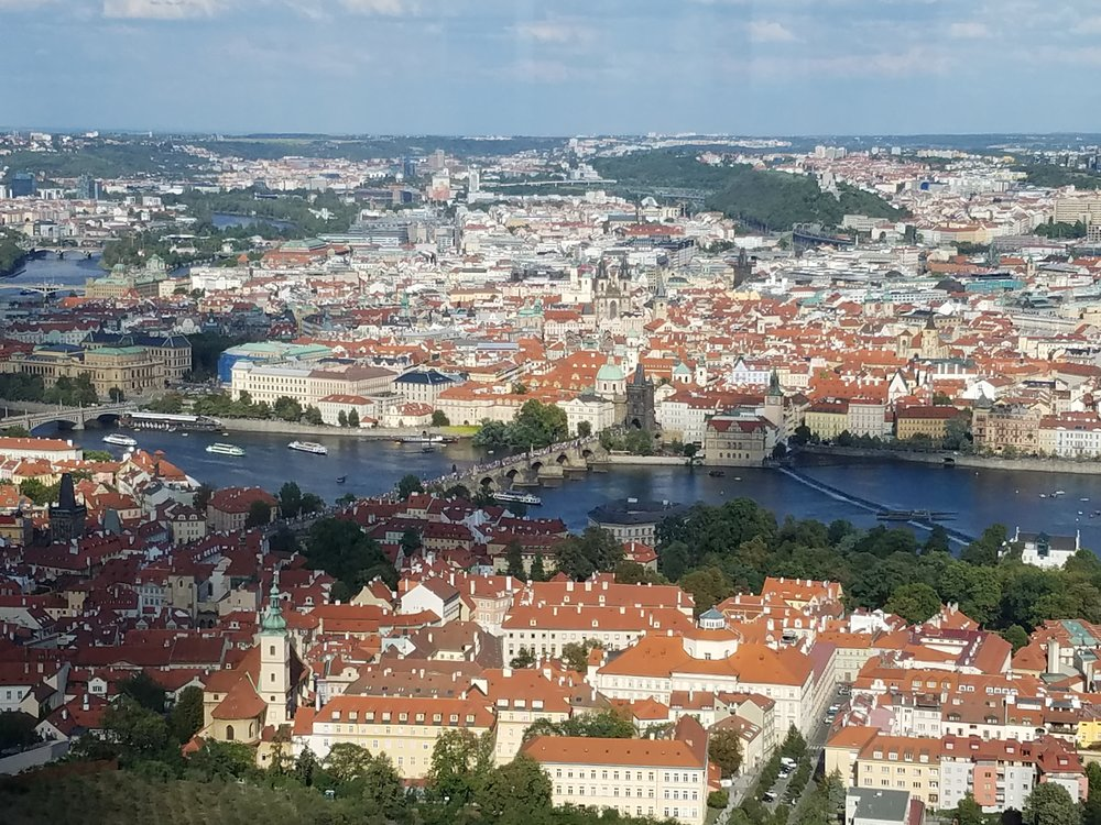 Prague as viewed from above!