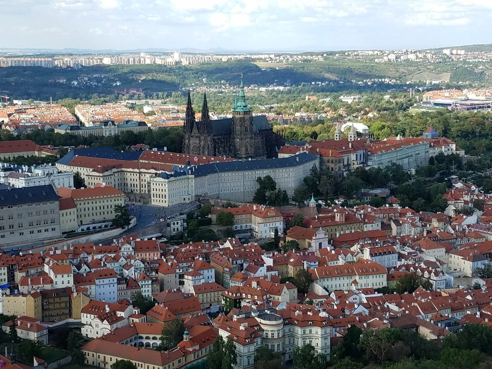 The Prague Castle complex.