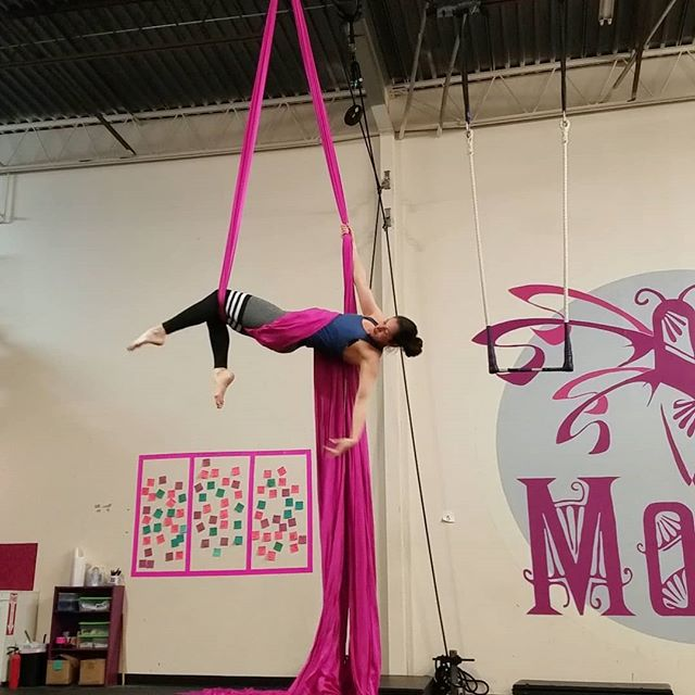 I love this pink fabric! It feels so bold! 😍😍 . . . #aerialnation #aerialist #circuseverydamnday #usaerial #dancer #circusarts #aerialsilks #aerialfabric #aerialistsofinstagram #aerialistsofig #aerialworkout #choreography #aerialdance #coreworkout #core #aerialdance #inversions #verticalwise #workout #inspiration #denver #colorado #denverfitness #flexibility #coloradofitness #abworkout #weekendworkout #fitfriday