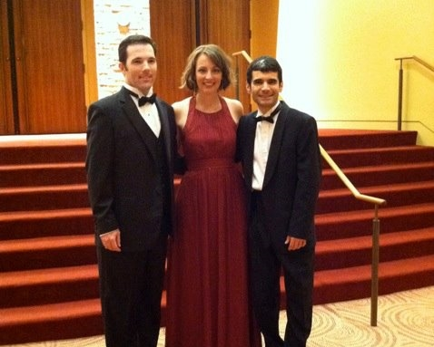 with wonderful colleagues after a Mahler festival concert, University of Texas - Brownsville