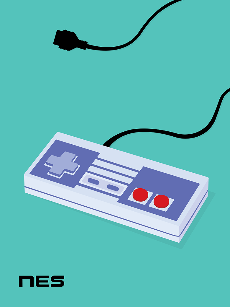 Japanese NES Controller Pop Art Print