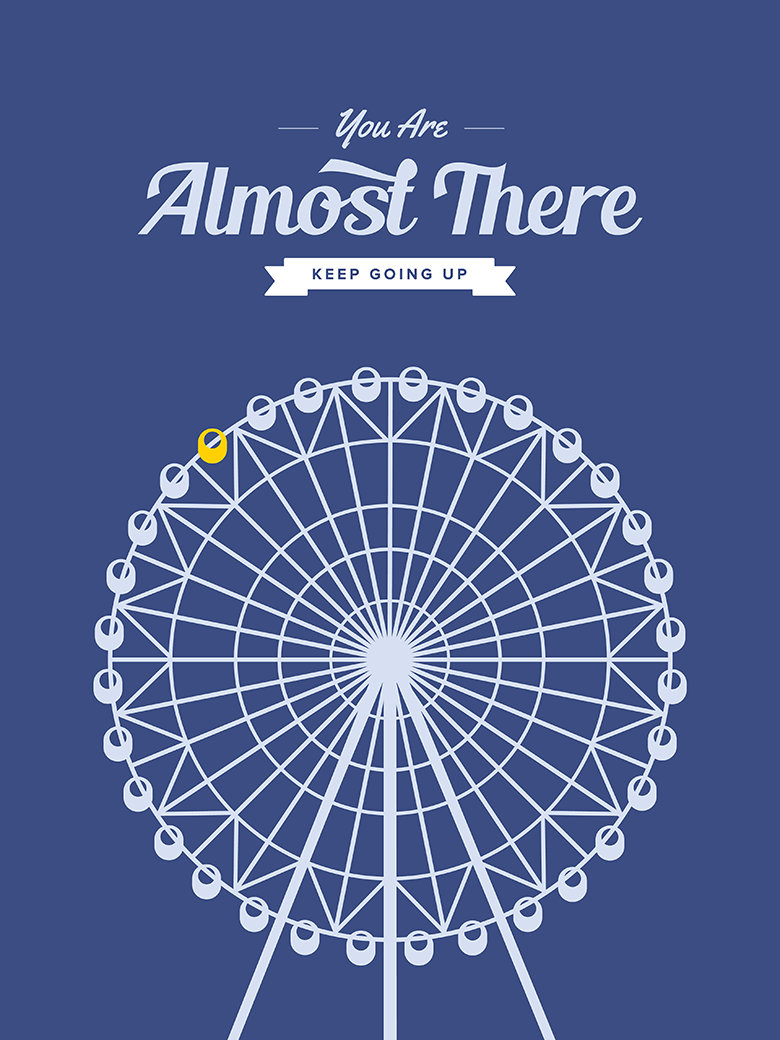 Tokyo Ferris Wheel Retro Print