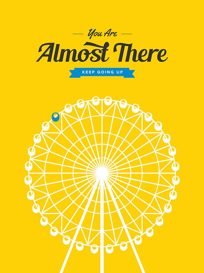 Japanese Tokyo Ferris Wheel Retro Print