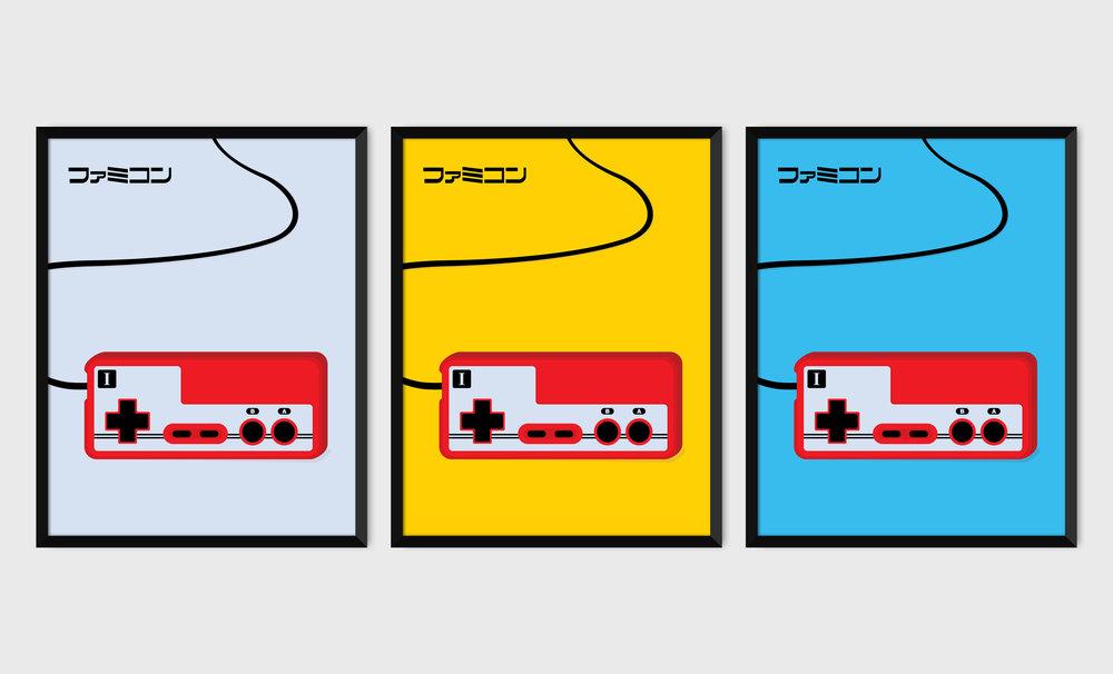 Famicom Controller PICA prints.