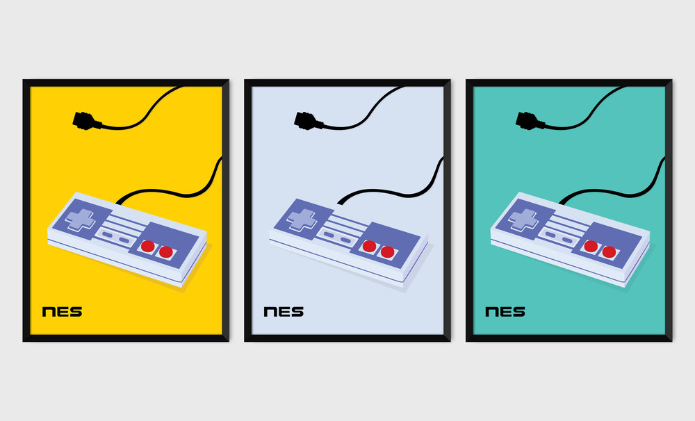 NES Controller PICA prints.