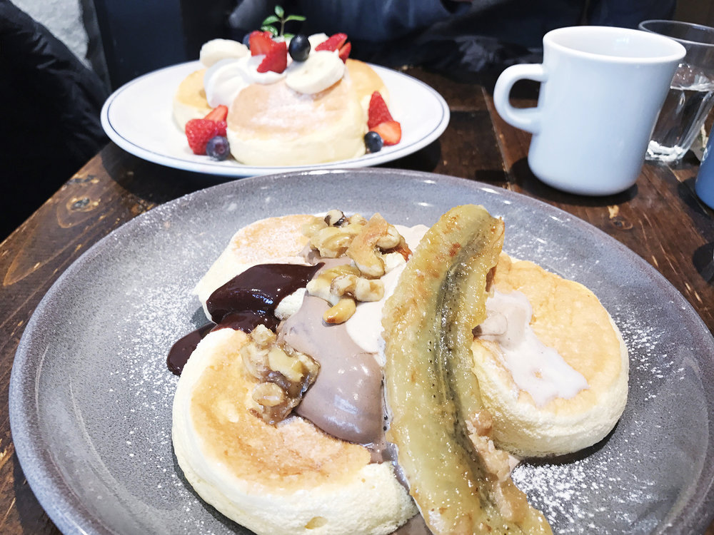 Pancakes at a recently opened pancake café, Flipper's, in Shimokitazawa.