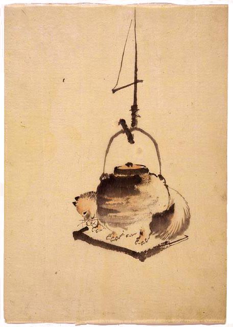 Tanuki Tea Kettle by Katsushika Hokusai.