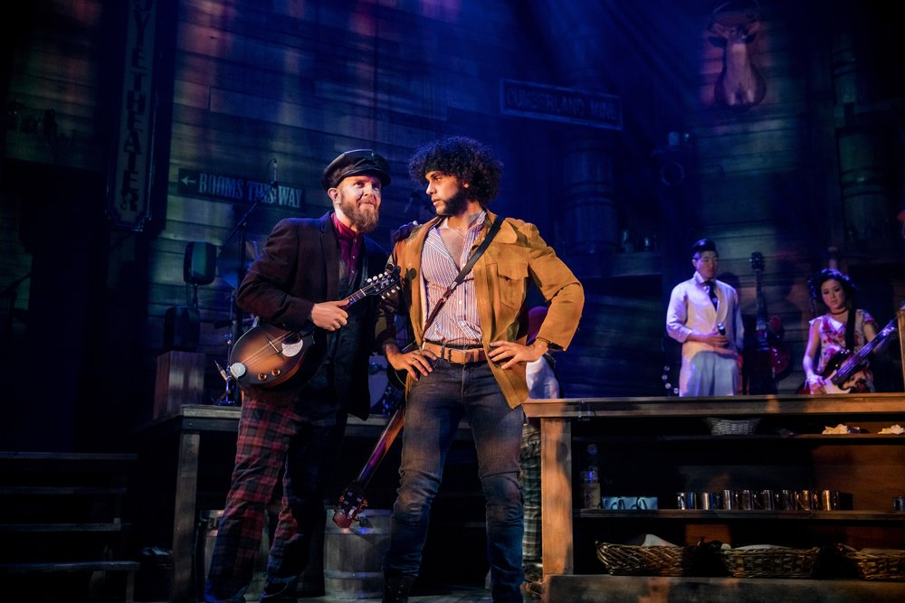 Michael McCoy Reilly and Michael Viruet in RED ROSES, GREEN GOLD at the Minetta Lane Theatre - photo by Chad Batka - Smaller.jpg