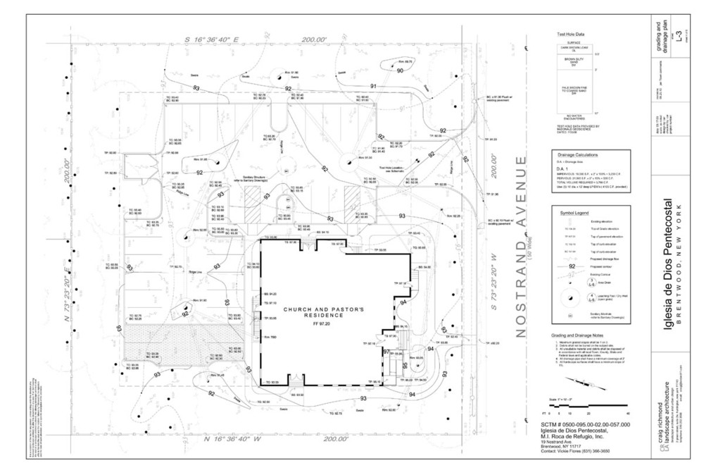 Construction Drawing - Grading and Drainage (Church)
