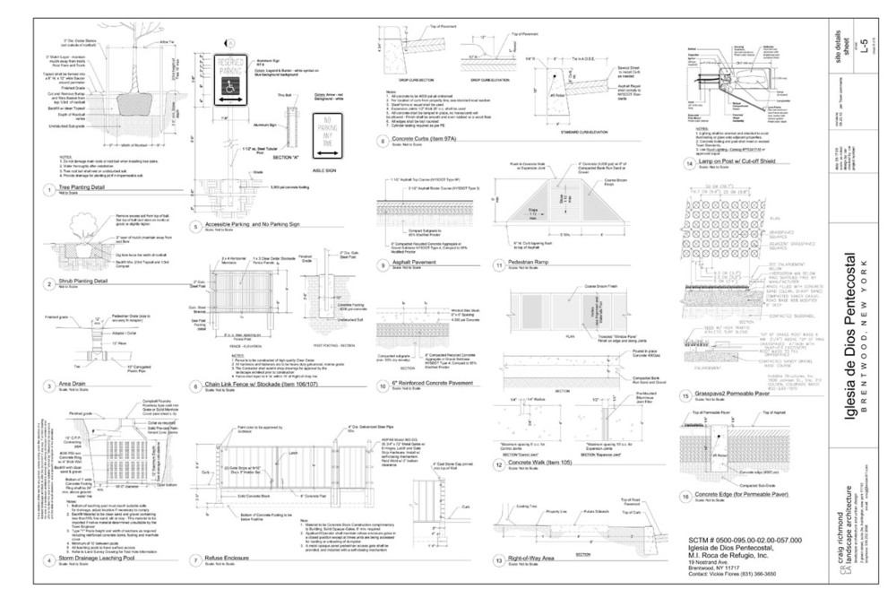 Construction Drawing - Site Detail Sheet (Church)