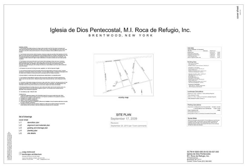 Site Plan Cover