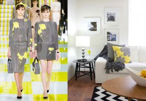 The fashions in interiors are often influenced by the Fashion (Textile & Clothing) Industry. Image Source: Freshome.com