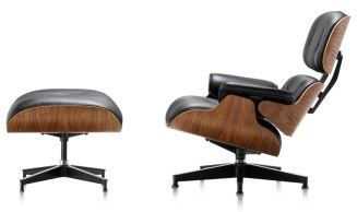 Eames Lounge Chair & Ottoman. Ahhh. But fake or real? Image Source may reveal this: www.hermanmiller.com.au