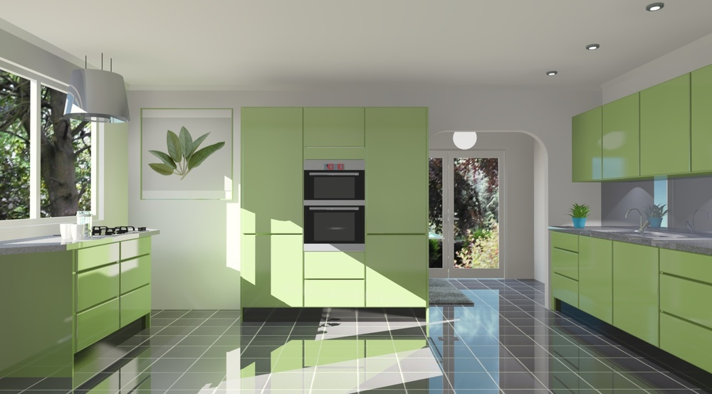 Kitchen Design Software used to create a 3D image of someones dream kitchen. Image source: www.easyplanner3D.com