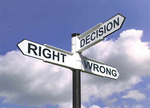 Making Decisions. Show me the sign. Image Source:  themotivatedmindset.com