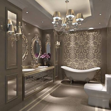 Luxurious Spaces to bath and relax. Image Source -http://www.maisonvalentina.net