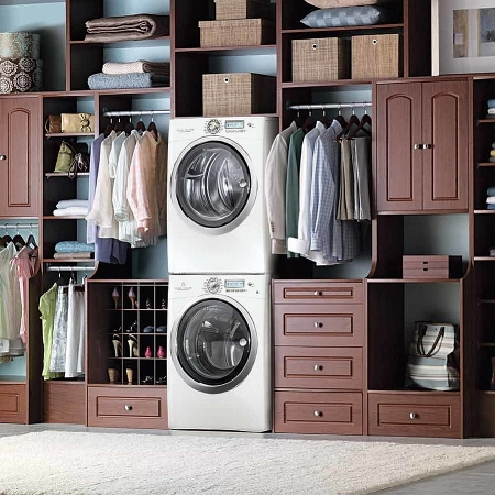Laundry Wardrobe Combination. Image Source - Decoist.com