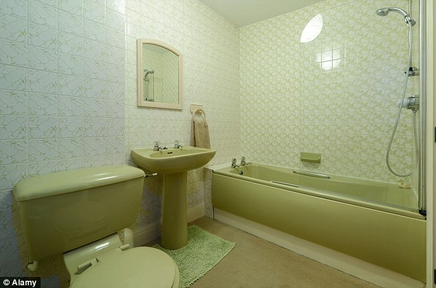 Yes the tiles date the space, but the pistachio coloured suite isnt helping. Image Source - dailymail.co.uk